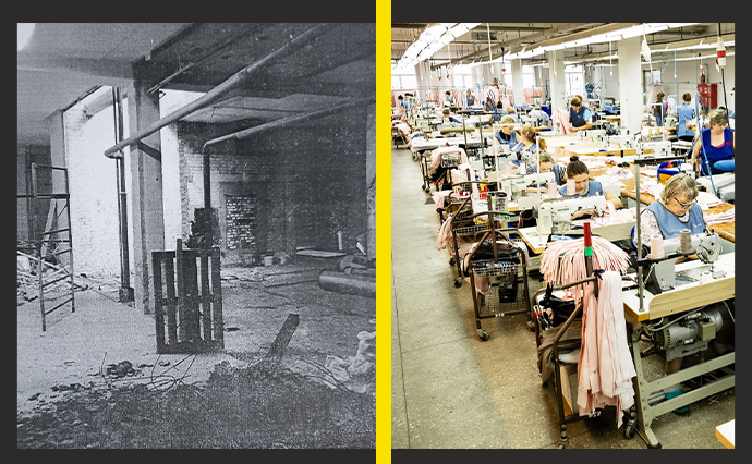 Вигляд фабрики до та після приватизації