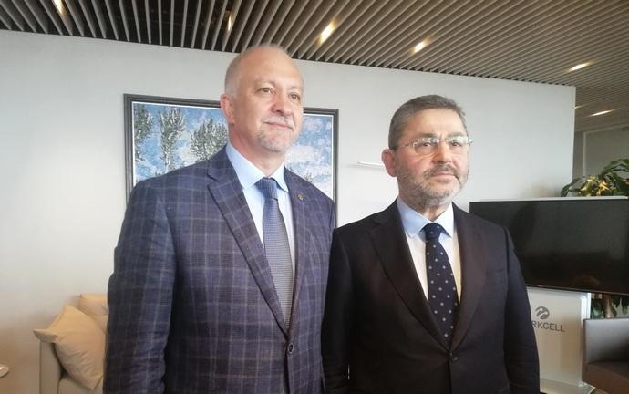 CEO lifecell Исмет Язиджи и глава наблюдательного совета Turkcell Group Ахмет Акча