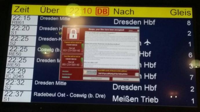 На одной из станций железной дороги Германии