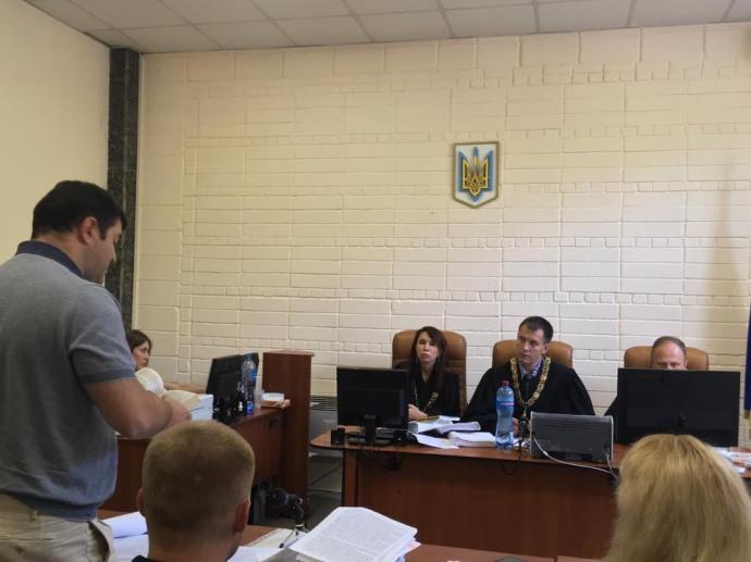 Роман Насиров на заседании суда 24 июня