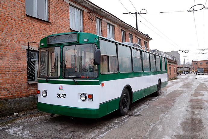 Відремонтований житомирський тролейбус