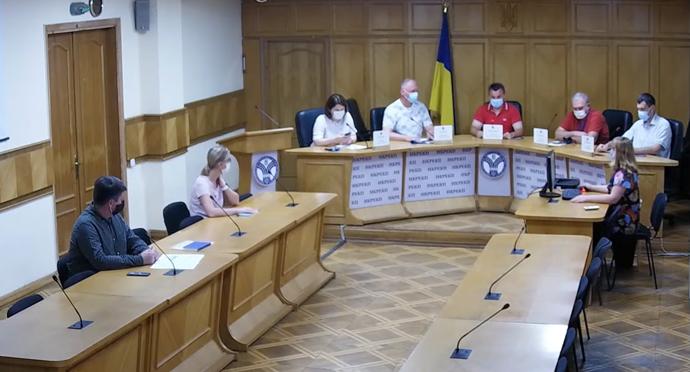 Скріншот трансляції засідання