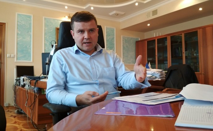 Олег Прохоренко під час інтерв'ю ЕП