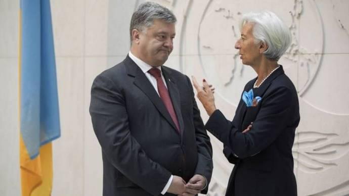 Президент Петро Порошенко та директор-розпорядник МВФ Крістін Лагард