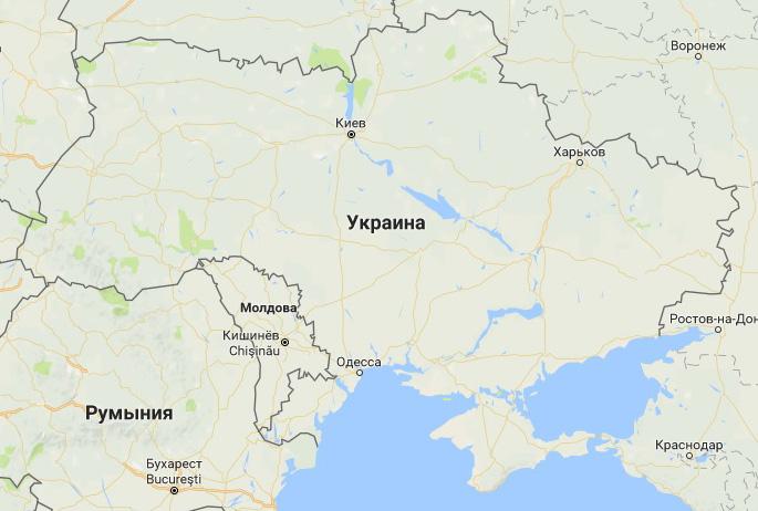 Дорожная инфраструктура Украины. Карты Google, масштаб 200 км.