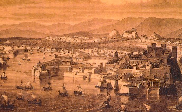 Щоб не платити податки, грецькі та фінікійські купці об'їжджали територію Афін в 20 миль