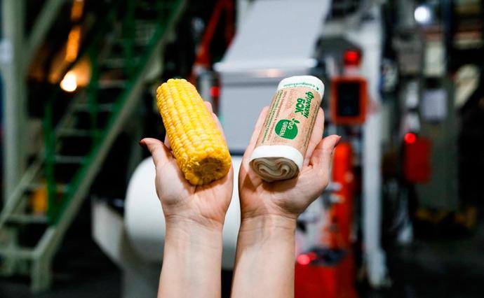 В Україні з кукурудзяного крохмалю виробляють екопакети для сміття