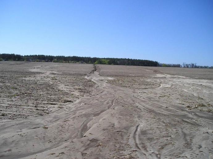 Так виглядає ерозія грунту