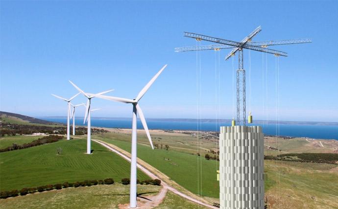 Швейцарський стартап Energy Vault розробив спосіб акумулювання енергії за допомогою вежі з 35-тонними бетонними блоками