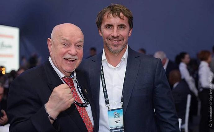 Белз з українським радянським боксером та спортивним функціонер Михайлом Зав'яловим
